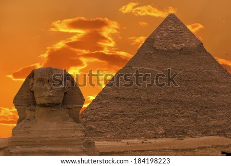 the sphinx and great pyramid ...