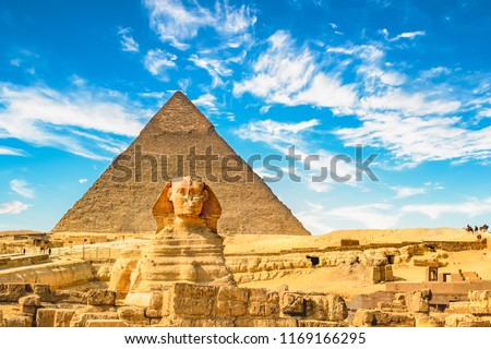 The Sphinx and Pyramid ,Cairo,Egypt #1169166295
