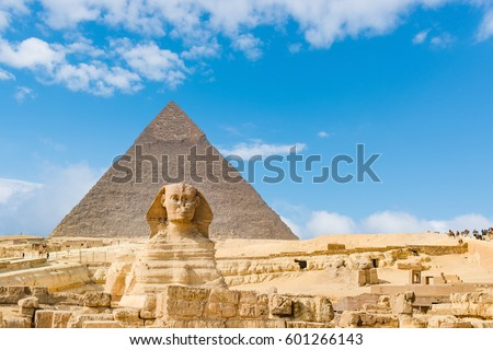 The Sphinx and Pyramid ,Cairo,Egypt