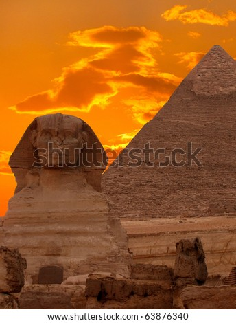 the sphinx and the great...
