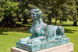 the Sphinx statue in Sydney Australia, was a gift from the Friends of the Royal Botanic Garden, Sydney.