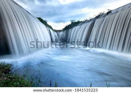 The spillway serves agricultural irrigation in Dak Lak province, Viet Nam. Tourist spots in Dak Lak, Viet Nam Stockfoto ©