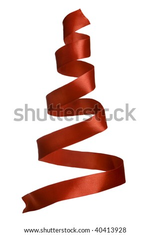 The spiral tape looks as christmas tree