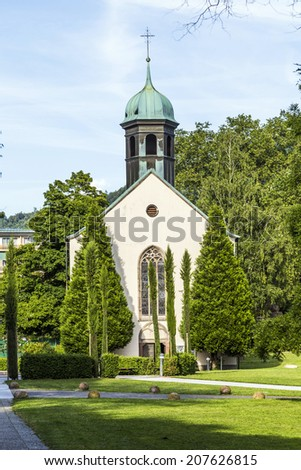 The Spitalkirche is the oldest church in town dating back to 1468 in Baden-Baden, Germany. It serves today as church for the catholics.