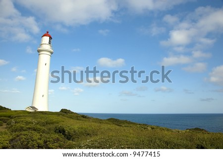 The Split Point Lighthouse at Aireys Inlet in Australia, on the Great Ocean Road