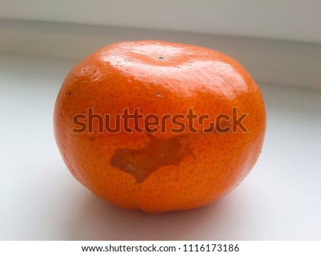 The spot on the skin of a tangerine, similar to the contours of Cyprus. Mind associations with the island map. #1116173186