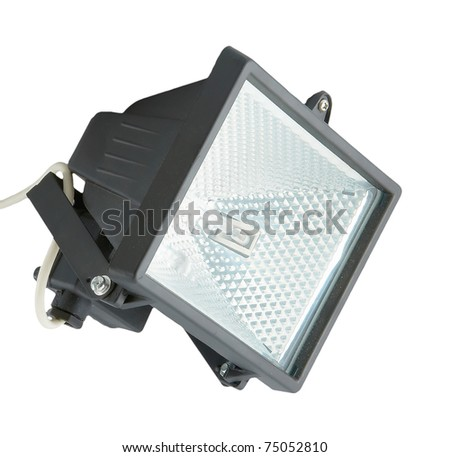 The spotlight isolated on a white background