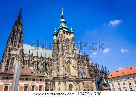 The square and the Cathedral in Prague