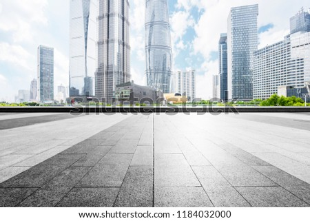 The square platform of modern city commercial skyscrapers. #1184032000