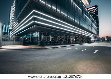 The square platform of urban modern building business office area. #1212876724