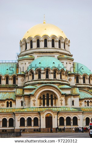 The St. Alexander Nevsky Cathedral, a Bulgarian Orthodox cathedral in Sofia, the capital of Bulgaria. Is one of the largest Eastern Orthodox cathedrals in the world, as well as one of Sofia's symbols