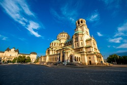 The St. Alexander Nevsky Cathedral in Sofia, the capital of Bulgaria