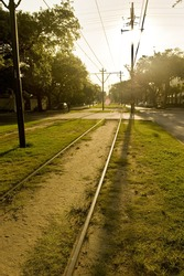 The St. Charles trolley railway in New Orleans.