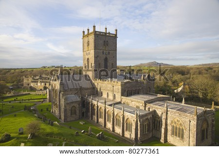The St. Davids cathedral in Pembrokeshire of England.
