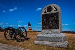 The 1st New York Light Artillery Monument, Gettysburg National Military Park, Pennsylvania USA