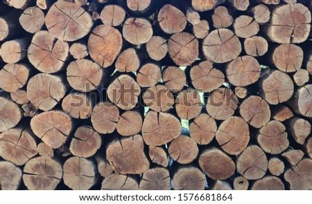 the stacked timbers making beautiful pattern