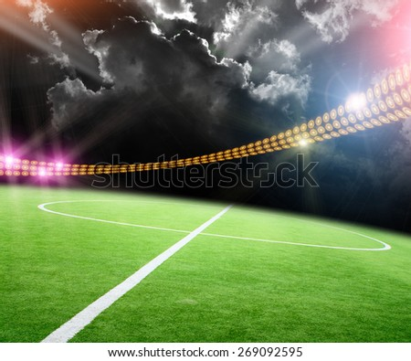 The stadium in lights and flashes #269092595