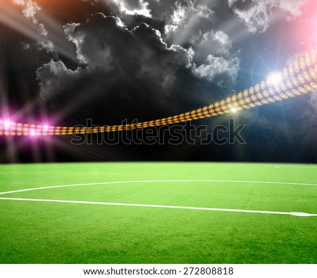 The stadium in lights and flashes #272808818