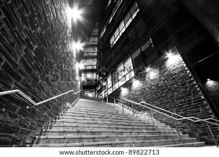 The stairway to success. The Path to success.
