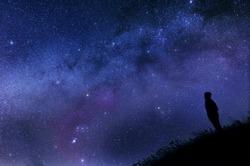 The Stargazer, different background