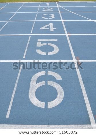 the start line in the race field