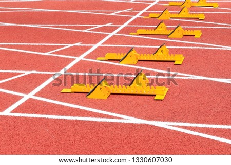 The starter is on the track, on the track