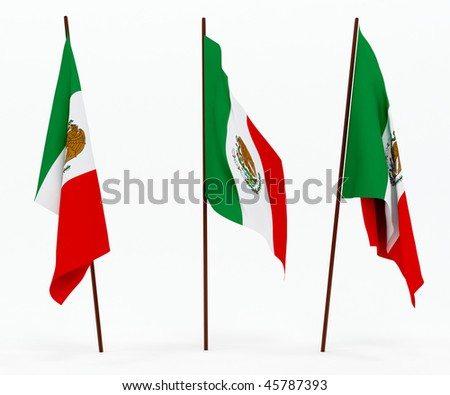 The state flag of Mexico. On white background