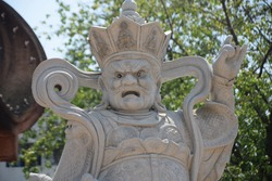 The statue figurehead imagery sculpture statuary marble China