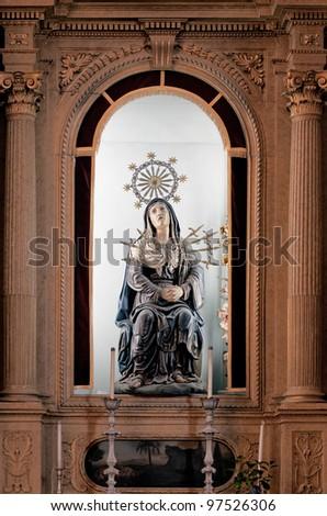 the statue inside the Bom Jesus do Monte - Braga, Portugal