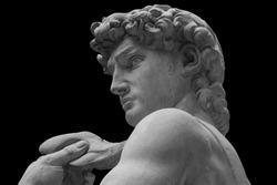 The statue of David by italian artist Michelangelo