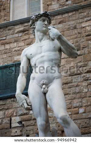The statue of David in Florence, Italy