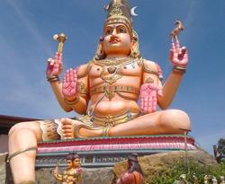 The statue of great shiva in koneswaram kovil, Trincomalee,Sri Lanka.Shiva is a Hindu god.Koneswaram is a most popular Hindu kovil among the world.