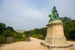 the statue of Jean-Baptiste Lamarck in Garden of the Plants