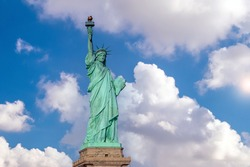 The statue of Liberty in Manhattan, New York City in USA