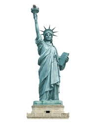 The Statue of Liberty in white background