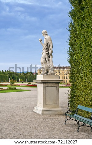 The Statue of Paris in the garden of the Schonbrunn palace