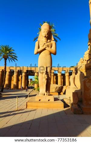 The statue of Ramses, Temple of Karnak, Luxor, Egypt.