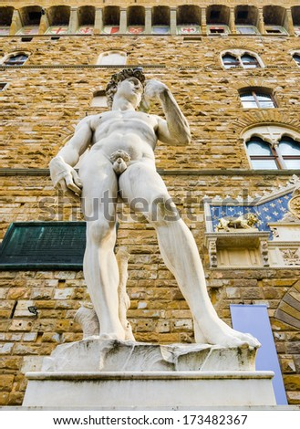 the stature of michelangelo's...