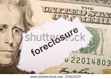 The status of the economy and the worries of the amerian people. Foreclosure - stock photo