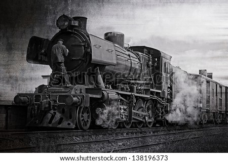 the steam train on the...