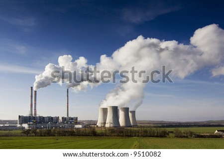 the steam turbine power plant Pocerady - Czech Republic