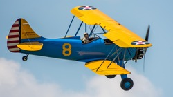 The Stearman Model 75 is a biplane formerly used as a military trainer aircraft, of which at least 10,626 were built in the United States during the 1930s and 1940s