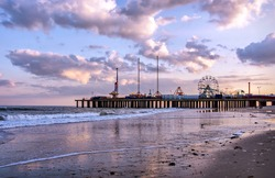 The Steel Pier at Atlantic City, USA