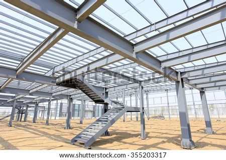 The steel structure, is under construction #355203317
