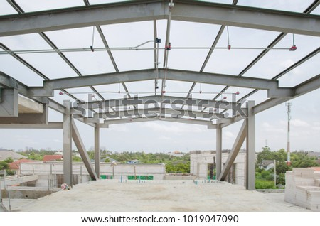 The steel structure. Steel frame structure #1019047090