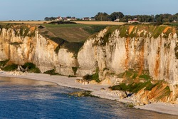 The steep cliffs of the alabaster coast in the normandy (france)