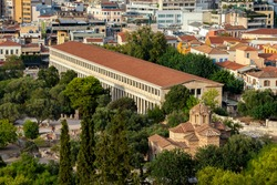 The Stoa of Attalos or Attalus was a  portico in the  Ancient Agora of Athens, Greece. It was built by and named after King Attalos II of Pergamon. Holy Apostles church or Holy Apostles of Solaki