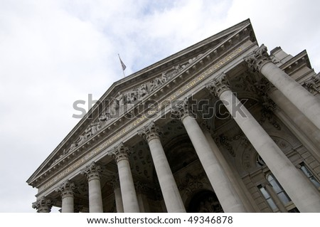 The Stock Exchange in London, UK.