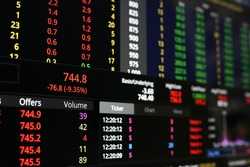 The Stock Exchange, Streaming Trade Screen, The stock screen shows a list of stocks with reduced value.