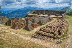 The Stockpiles of Cannon Balls at Citadelle Laferrière in Milot Haiti